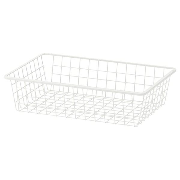 HJÄLPA Wire basket, white, 60x40 cm