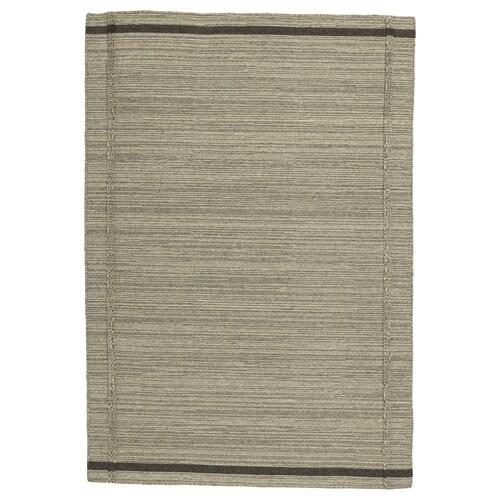 HÖJET rug, flatwoven handmade/beige 195 cm 133 cm 7 mm 2.59 m² 2000 g/m²