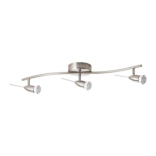 HUSINGE Ceiling track, 3-spots   You can easily direct the light where you want it because the arms and spots are adjustable.