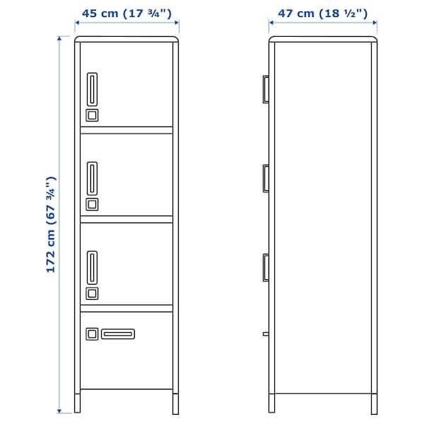 IDÅSEN High cabinet with smart lock, beige, 45x172 cm