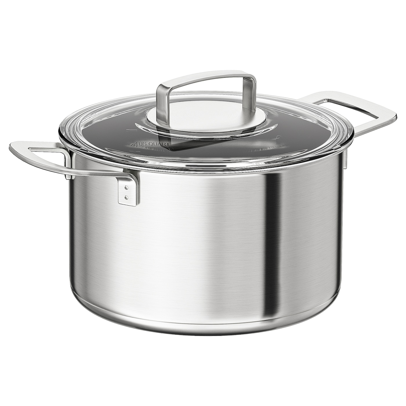 Pot With Lid Stainless Steel Gl