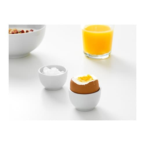 IKEA 365+ Bowl/egg cup   Made of feldspar porcelain, which makes the bowl impact resistant and durable.