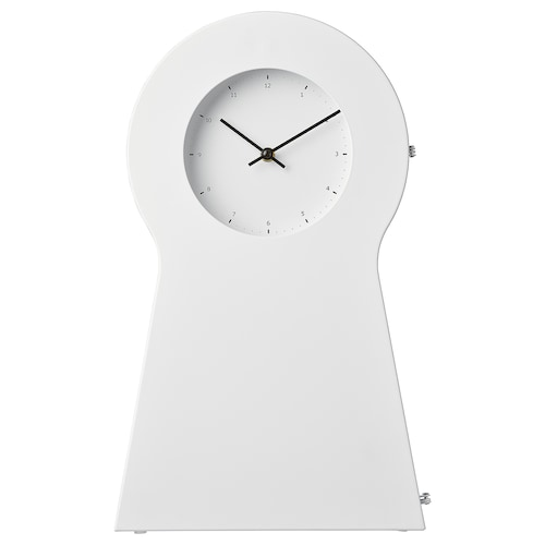 IKEA PS 1995 clock white 29 cm 15 cm 48 cm