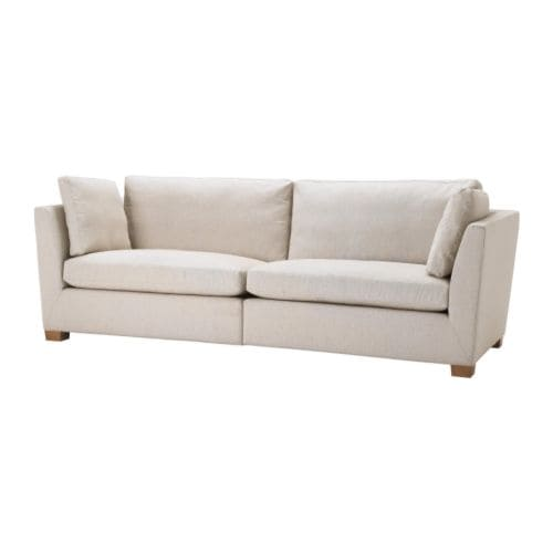 IKEA STOCKHOLM 3.5-seat sofa   Easy to keep clean; removable dry-clean cover.