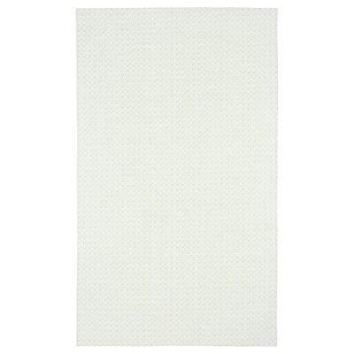 INBJUDEN Tablecloth, white/green, 145x240 cm