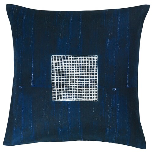 INNEHÅLLSRIK cushion cover handmade blue 50 cm 50 cm