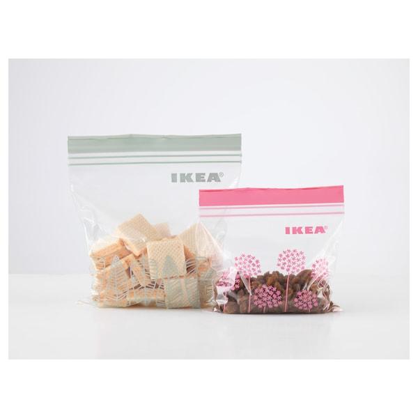 ISTAD Resealable bag, pink/green