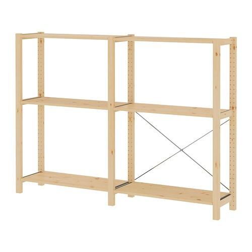 ivar 2 sections shelves ikea. Black Bedroom Furniture Sets. Home Design Ideas