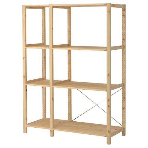 IVAR 2 sections/shelves pine 134 cm 50 cm 179 cm