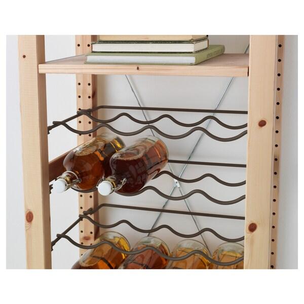 IVAR Bottle rack, grey, 42x30 cm