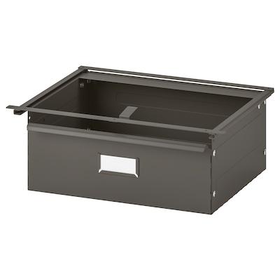 IVAR Drawer, grey, 39x30x14 cm