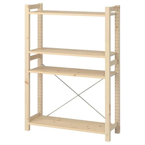 IVAR shelving unit pine 89 cm 30 cm 124 cm