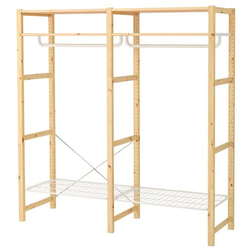 IVAR shelving unit with clothes rail 174 cm 50 cm 179 cm