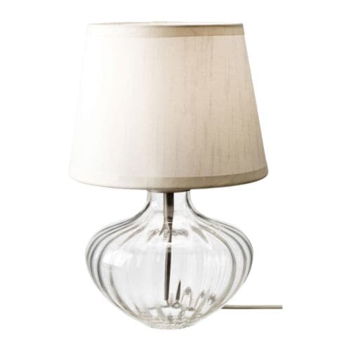 JONSBO EGBY Table lamp   Shade of textile; gives a diffused and decorative light.