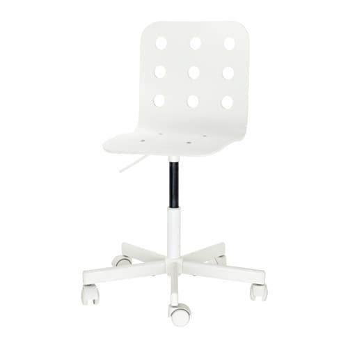 jules children's desk chair - white - ikea