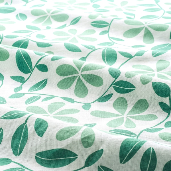 JUVELBLOMMA quilt cover and pillowcase white/green 104 /inch² 1 pieces 200 cm 150 cm 50 cm 80 cm
