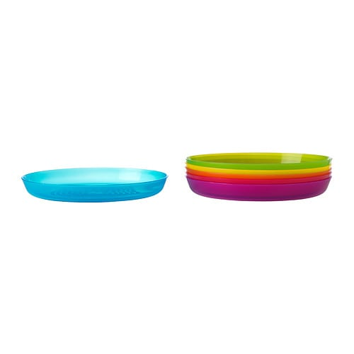 KALAS Plate IKEA Great for parties and everyday meals. Made of durable plastic and safe to use in the dishwasher and microwave.