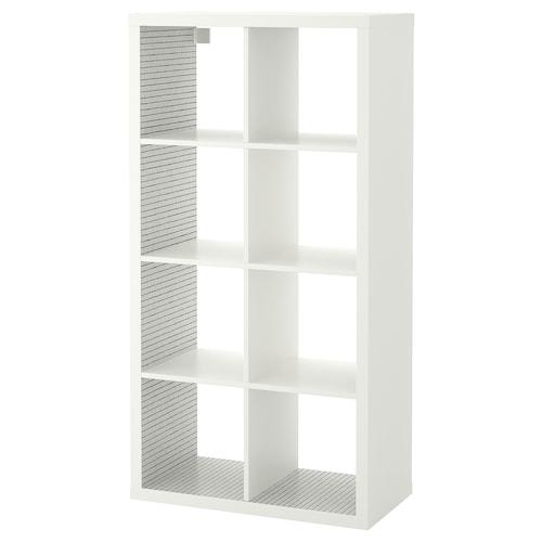KALLAX shelving unit white/check pattern 77 cm 39 cm 147 cm 13 kg