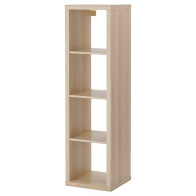KALLAX Shelving unit, white stained oak effect, 42x147 cm