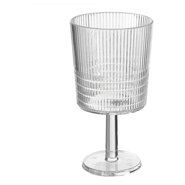 KALLSINNIG Wine glass, transparent plastic, 32 cl
