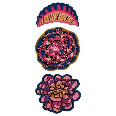 KARISMATISK Rug, set of 3, multicolour