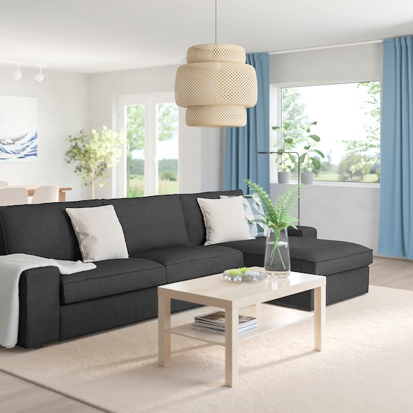 KIVIK 4-seat sofa, with chaise longue/Hillared anthracite