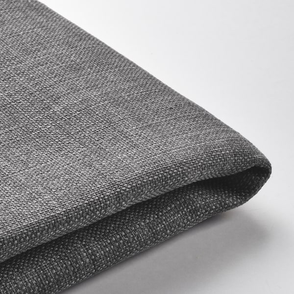 KIVIK Cover for footstool with storage, Skiftebo dark grey