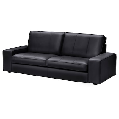 KIVIK Three-seat sofa, Grann/Bomstad black