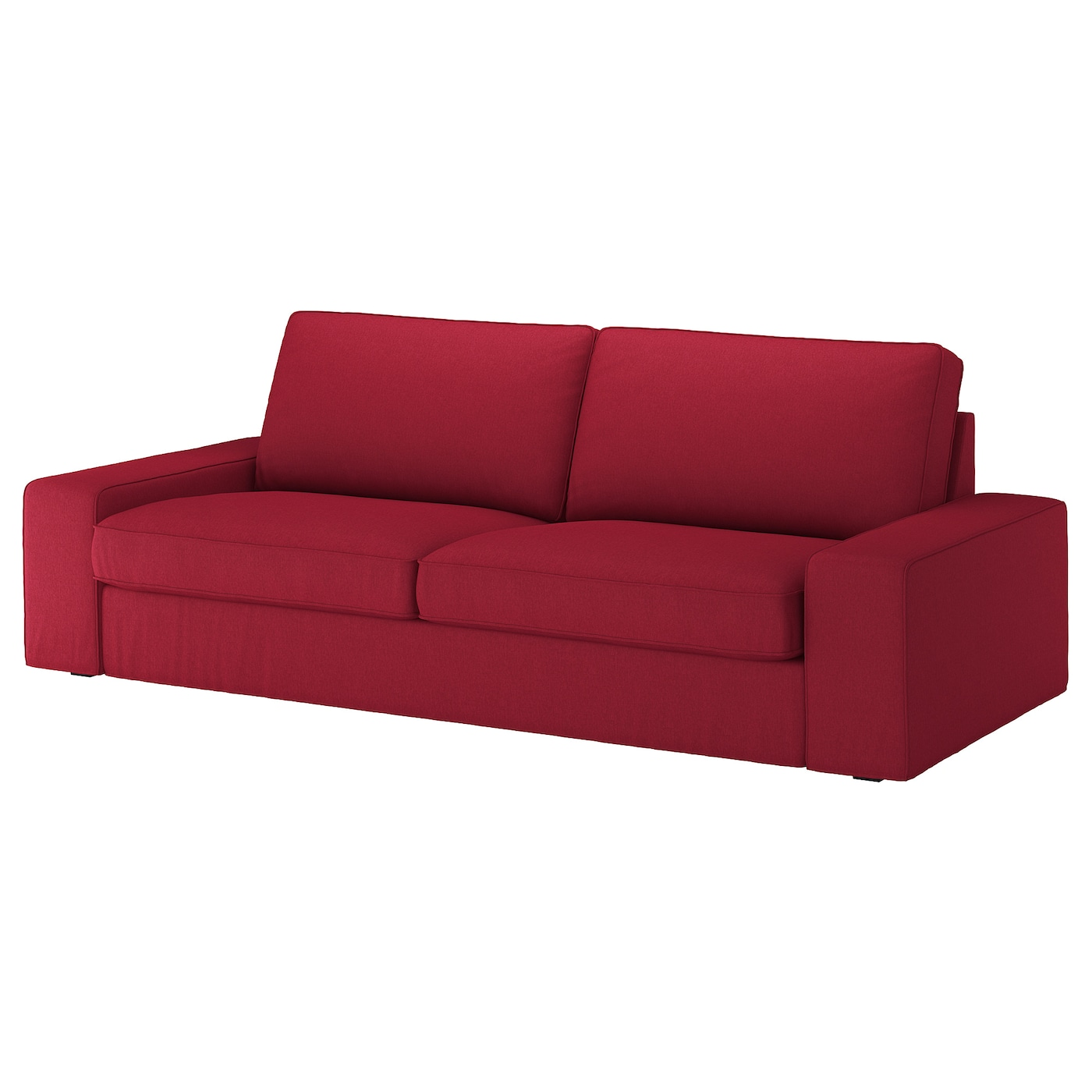 - KIVIK Three-seat Sofa - Orrsta Red - IKEA