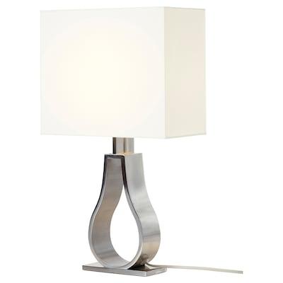 KLABB Table lamp, off-white/nickel-plated, 44 cm