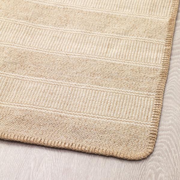KLEJS Rug, flatwoven, beige/white, 50x80 cm