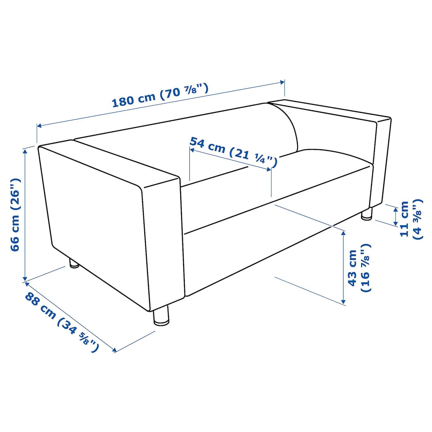 Klippan 2 Seat Sofa Vissle Grey Ikea Ukuran sofa 2 seat