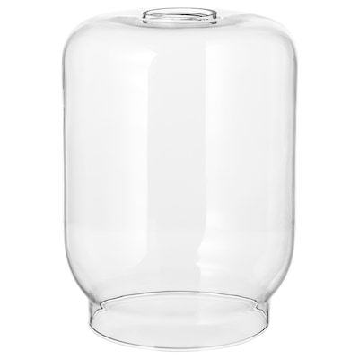 KLOVAN Pendant lamp shade, clear glass, 20 cm