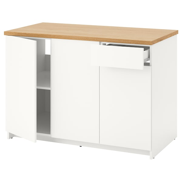 Knoxhult Base Cabinet With Doors And Drawer White 120 Cm Ikea