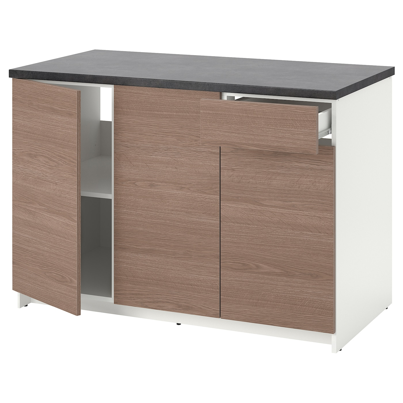 Knoxhult Base Cabinet With Doors And Drawer Wood Effect
