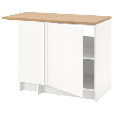KNOXHULT Corner base cabinet, white, 100x85 cm