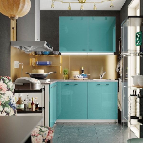 Knoxhult Kitchen High Gloss Blue