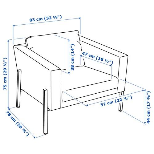 KOARP Armchair, Orrsta light blue/black