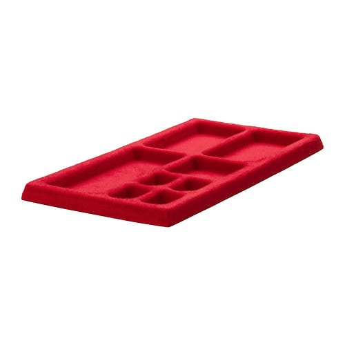 KOMPLEMENT Jewellery insert for pull-out tray   Soft felt protects your accessories and keeps them neatly in place.