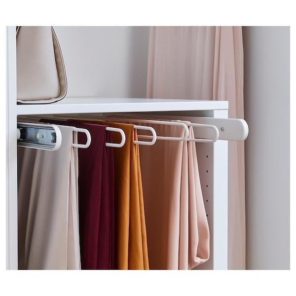 KOMPLEMENT pull-out trouser hanger white 46.1 cm 50 cm 56.9 cm 4.5 cm 58 cm 8 kg