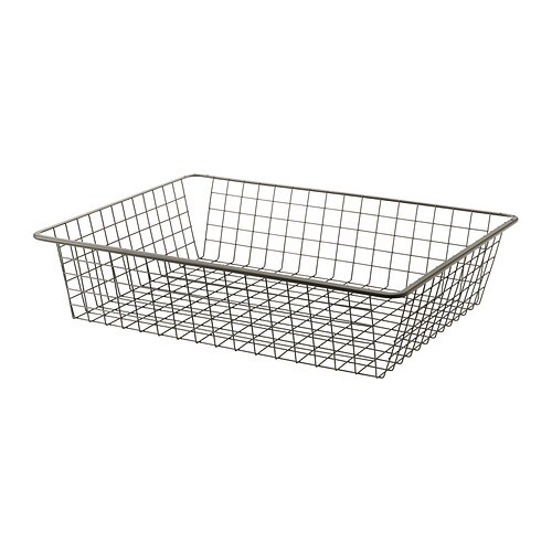 KOMPLEMENT Wire basket with pull-out rail   10 year guarantee.   Read about the terms in the guarantee brochure.
