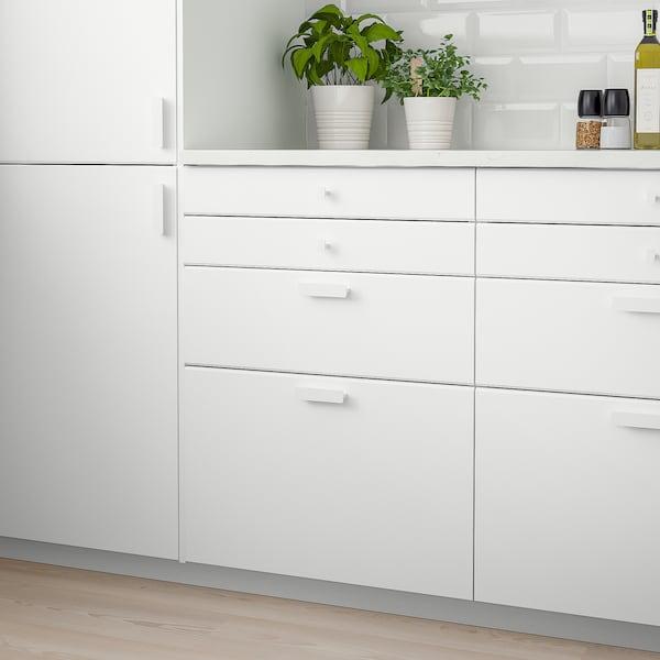 KUNGSBACKA Drawer front, matt white, 80x10 cm
