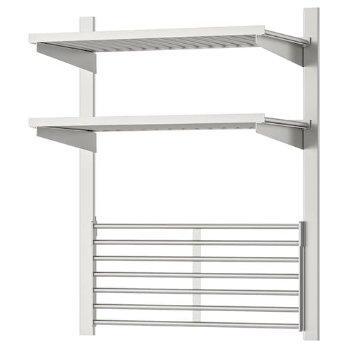 KUNGSFORS suspension rail with shelf/wll grid stainless steel 64 cm 32 cm 80 cm