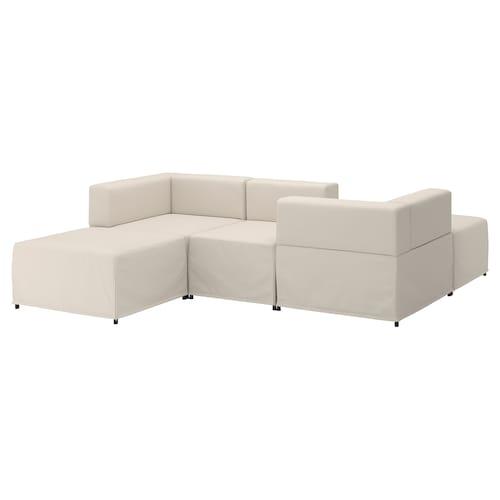 KUNGSHAMN 3-seat modular sofa Idekulla beige 237 cm 71 cm 85 cm 219 cm 23 cm 65 cm 132 cm 44 cm