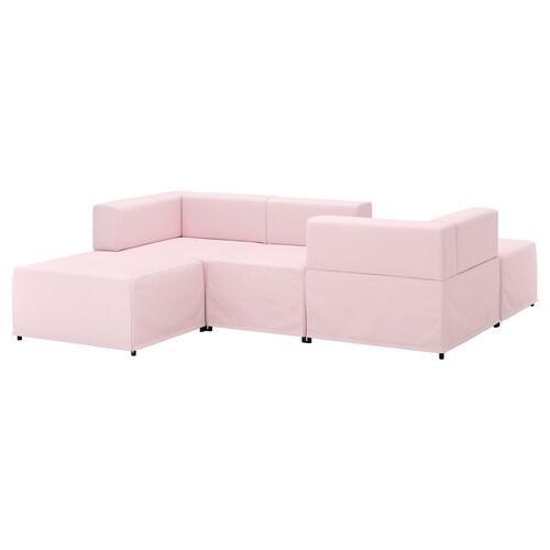 KUNGSHAMN 3-seat modular sofa Idekulla pink 237 cm 71 cm 85 cm 219 cm 23 cm 65 cm 132 cm 44 cm