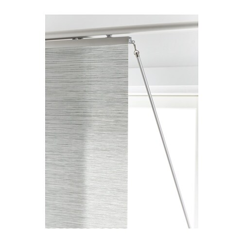 KVARTAL Draw rod   Makes it easy to move and arrange panel curtains and still keep them clean.