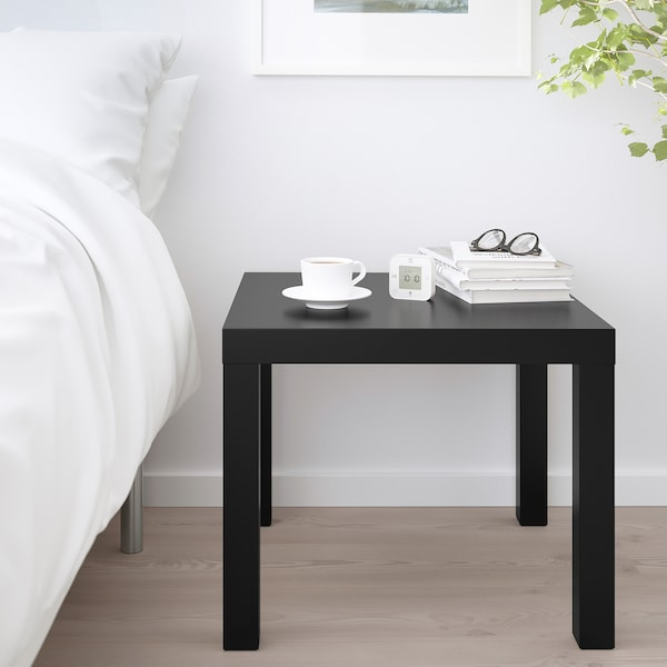 LACK Side table, black, 55x55 cm