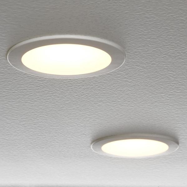LAKENE LED recessed spotlight, opal white