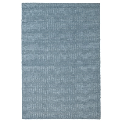 LANGSTED Rug, low pile, light blue, 60x90 cm