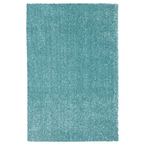 LANGSTED rug, low pile turquoise 90 cm 60 cm 13 mm 0.54 m² 2500 g/m² 1030 g/m² 9 mm
